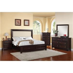 Elements International Hartly 4-Piece Queen Bedroom