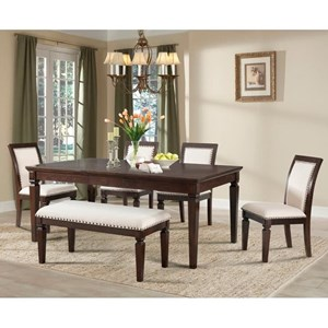 Elements International Harwich Table and Chair Set