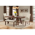 Elements Jax Dining Table and Chair Set with Bench - Item Number: DJX100SB6PC