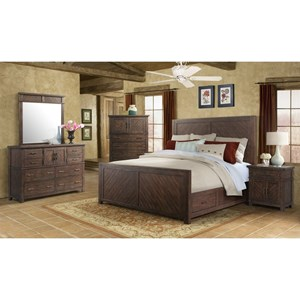 Elements International Jax King Bedroom Group