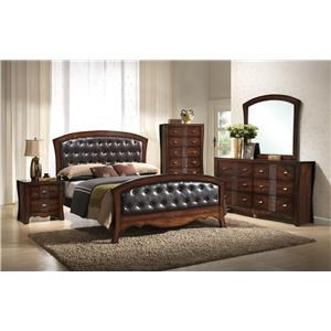 Elements International Jenny Queen 6-Piece Bedroom Group