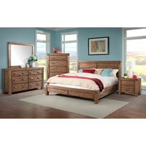 Elements International Joplin King Bedroom Group