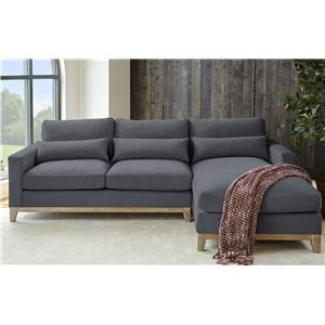 Navy Chaise Sectional