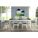 Elements International Kayla 7-Piece Dining Table and Chair Set - Item Number: DKY300DT+SCx3