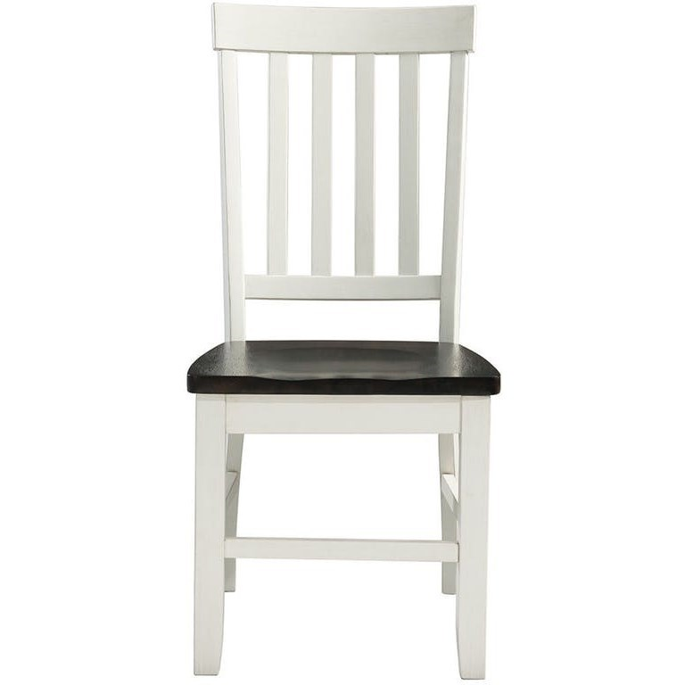 Kayla Two-Tone Side Chair by Elements International at Johnny Janosik
