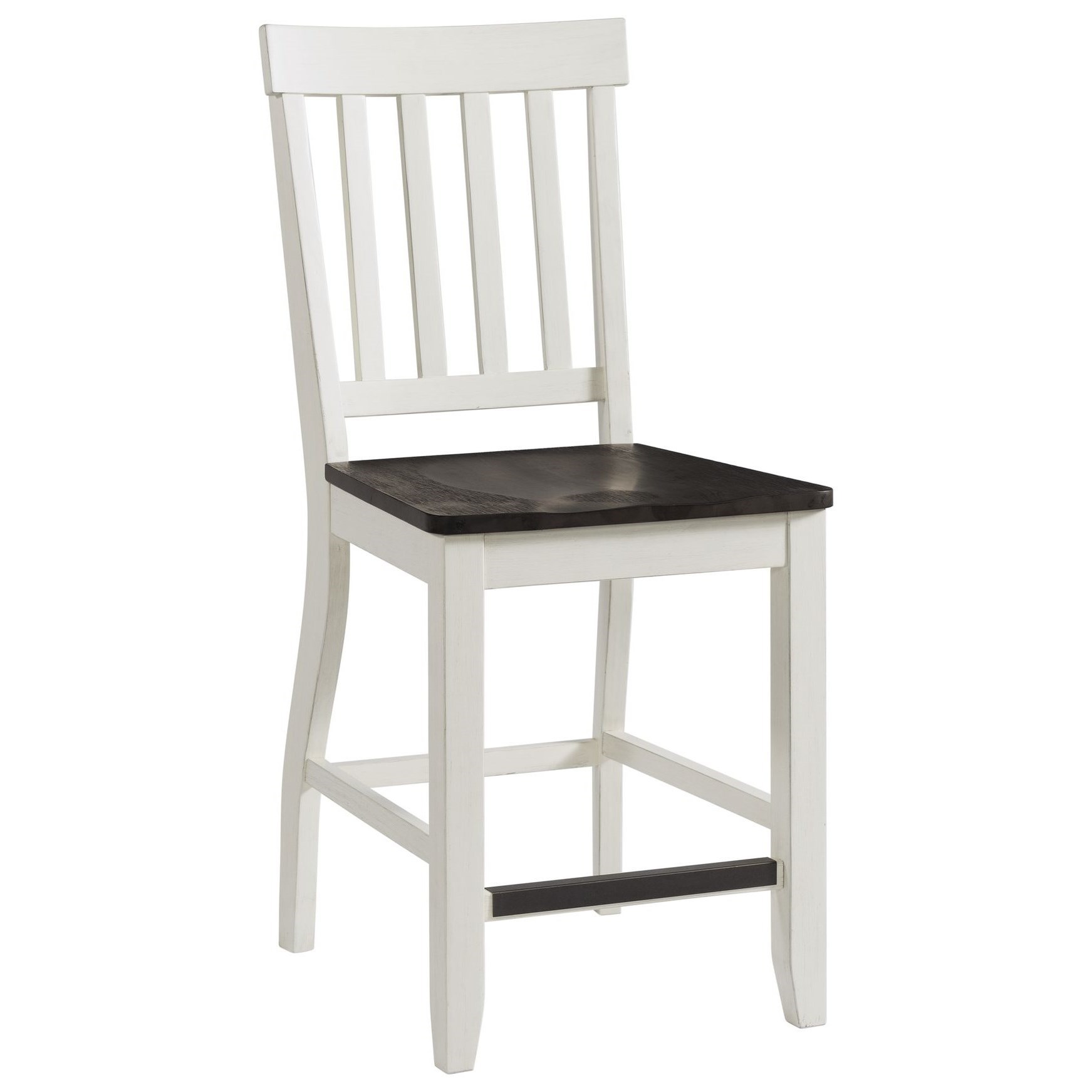 Kayla Two-Tone Counter Height Side Chair by Elements International at Johnny Janosik