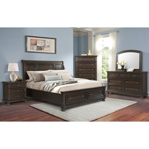 Elements International Kingston King Bedroom Group
