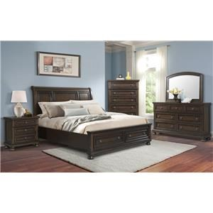 Elements International Kingston Queen 6-Piece Bedroom Group