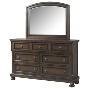 Elements International Kingston Dresser and Mirror Set