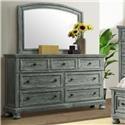 Elements Kingston Gray Dresser and Mirror Set - Item Number: KT900DR + KT900MR