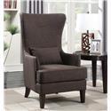 Elements International Kori Upholstered Chair - Item Number: UKR CHARCOAL