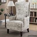 Elements International Kori Upholstered Chair - Item Number: UKRxx100-Script