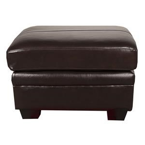 Morris Home Furnishings Landry Landry Leather-Match* Ottoman