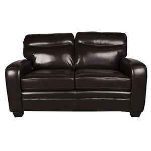 Morris Home Furnishings Landry Landry Leather-Match* Loveseat