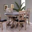 Elements International Laramie Round Dining Table - Item Number: DLM100RDT+DLM100RDL