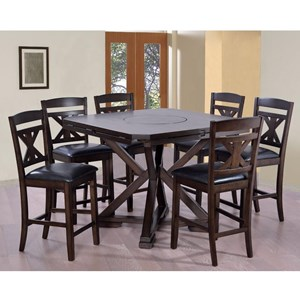 Elements International Laramie Mindy Counter Height Table Set