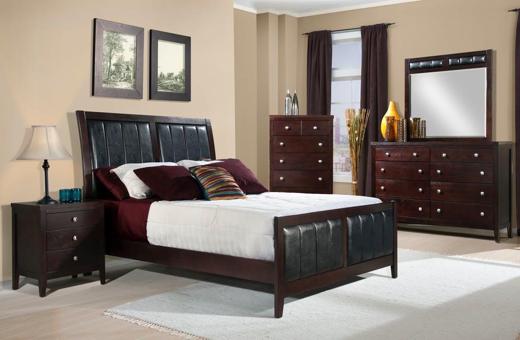 Full Bed, Dresser, Mirror & Nightstand