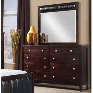 Elements International Lawrence Dresser and Mirror Set