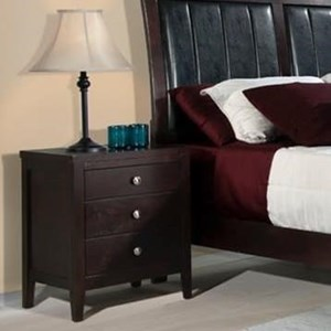 Elements International Lawrence Nightstand
