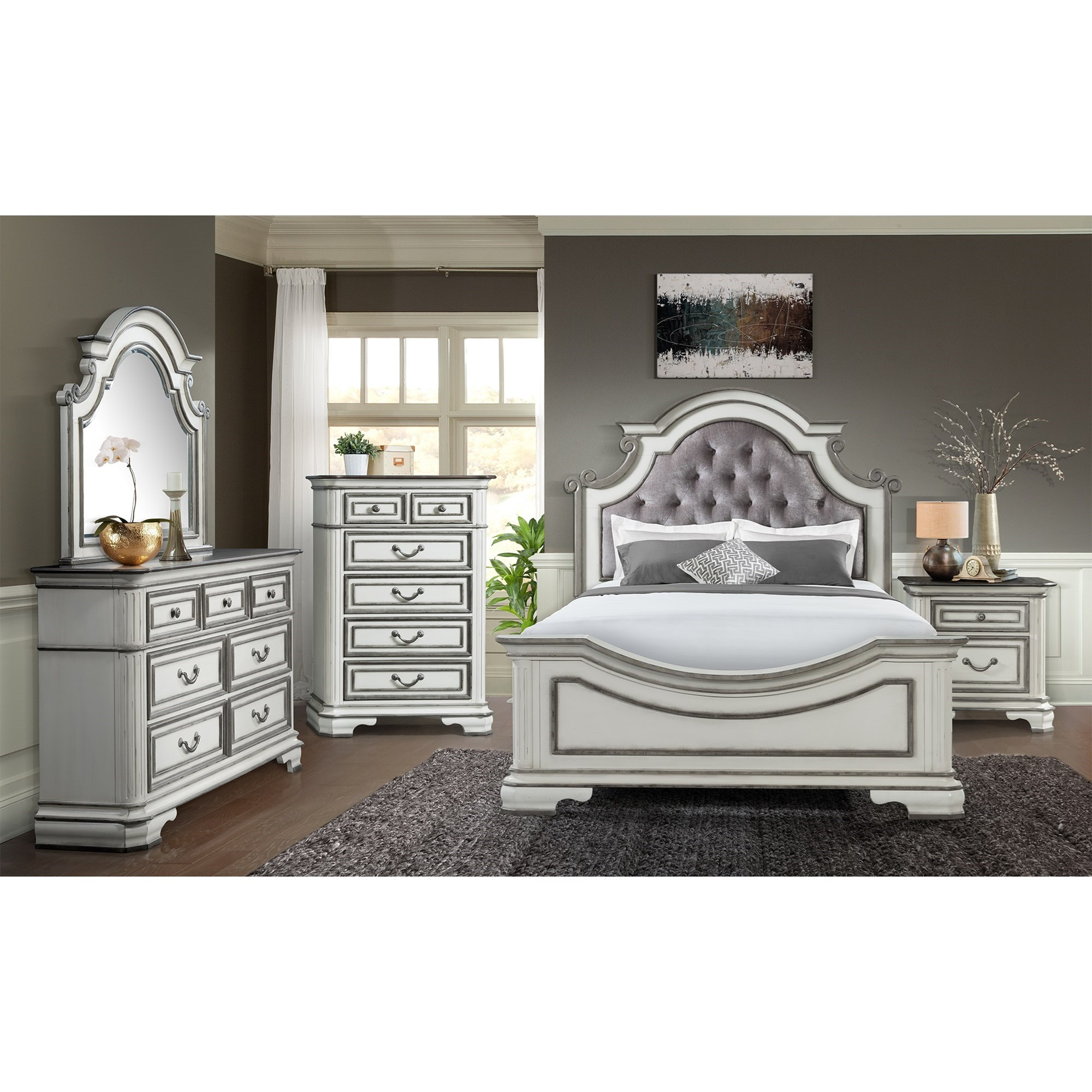 Elements Leighton Manor Queen 3 Piece Bedroom Group Royal Furniture Bedroom Groups