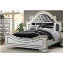 Elements International LH700 Antique White Queen Bed - Item Number: LH700QH