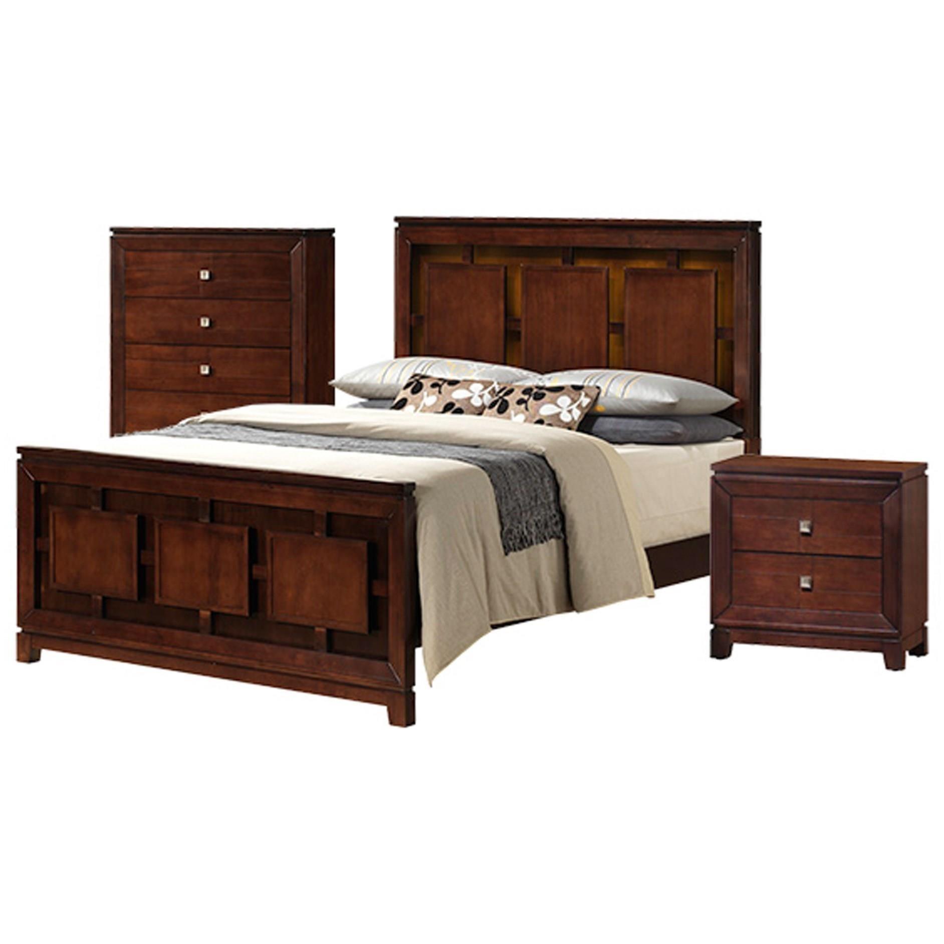 Elements International London 3 Piece Queen Bedroom Set Bullard Furniture Bedroom Groups