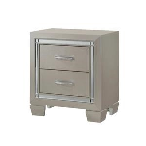 Elements International Platinum Youth Small Scale Nightstand