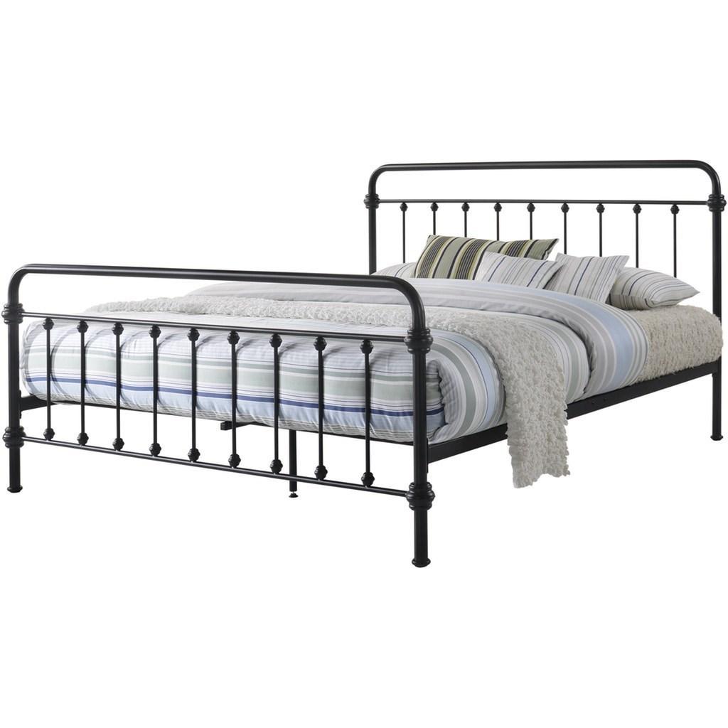 Elements International Lucy Full Black Metal Bed Bullard Furniture Panel Beds