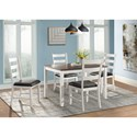 Elements Martin Dining Table and Chair Set - Item Number: DMT7005DS