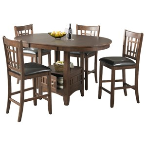 Elements International Max Counter Height Table Set