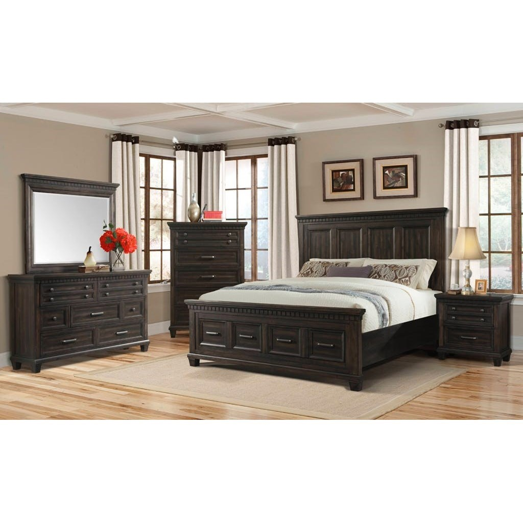 Elements International Mccabe Queen Bedroom Group Story