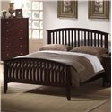 Elements International Metalindo King Slatted Headboard and Footboard Bed - Item Number: MT100KB