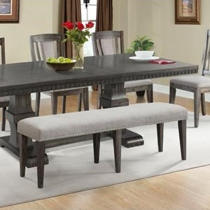 Elements International Harwich Upholstered Dining Bench With