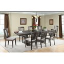 Elements Morrison Table and Chair Set - Item Number: DMO100DT+DB+8xWSC