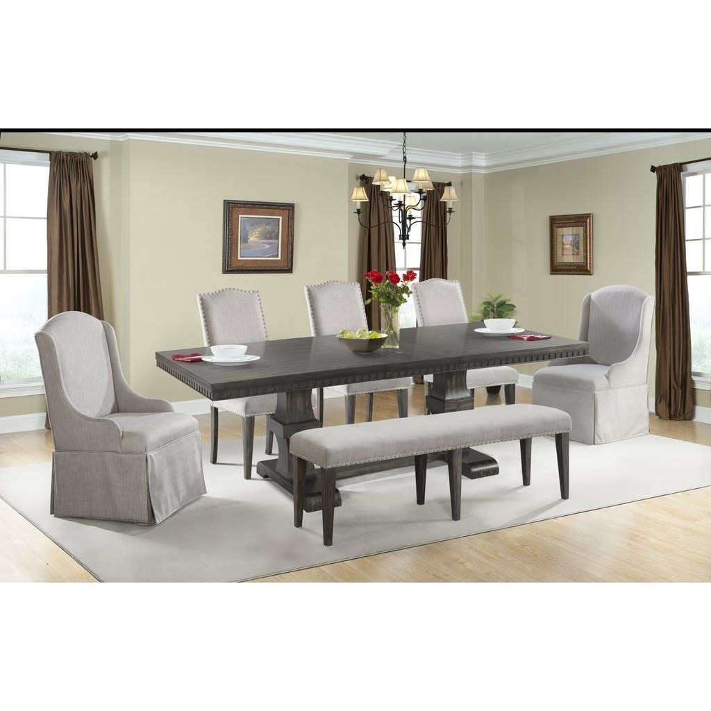 Elements International Morrison Pedestal Dining Table With