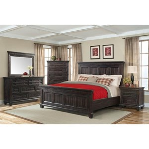 Elements International Morrison Queen Bedroom Group