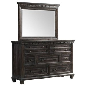 Elements International Morrison Dresser and Mirror Set