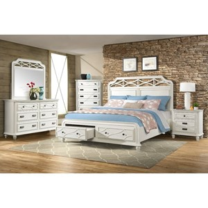 Elements International Mystic Bay King Bedroom Group