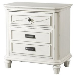 Elements International Mystic Bay Nightstand