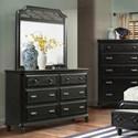 Elements International Mystic Bay Dresser and Mirror Set - Item Number: MY800DR+MY800MR