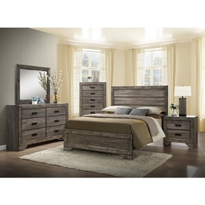 Elements International Nathan King Bedroom Set