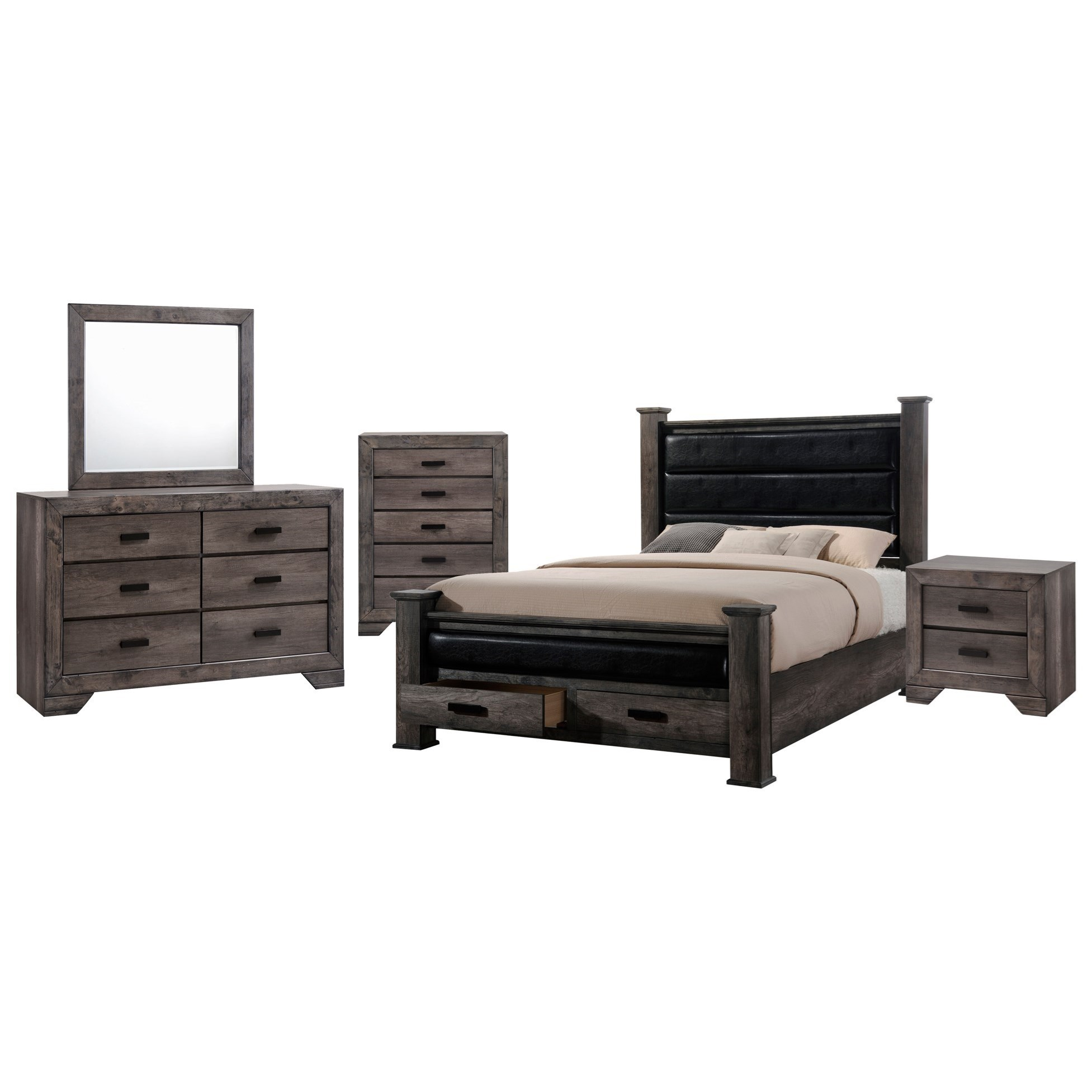 Nathan 5-Piece King Bedroom Set by Elements at Royal Furniture