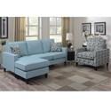 Elements International Noah Living Room Group - Item Number: UNHxx302-Laguna+UNHxx100-Laguna