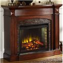 Elements International Occasional Accents Elements Fireplace/TV Stand - Item Number: TM200FP