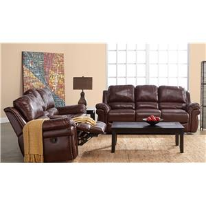 Elements International Oliver Reclining Living Room Group