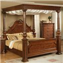 Elements International Olivia  King Canopy Bed - Item Number: LZ850KCB