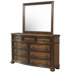 Elements International Palmer Dresser and Mirror Set