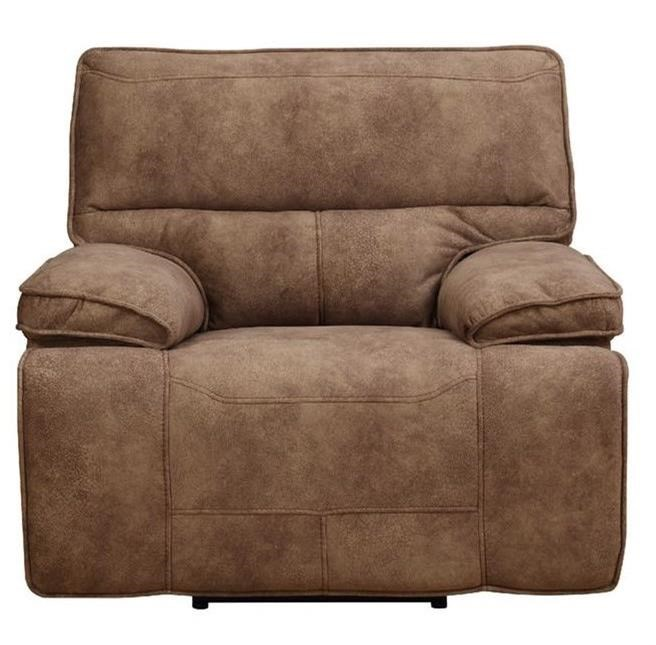 Elements International Paris Glider Recliner - Item Number: UPSxx107-Saddle