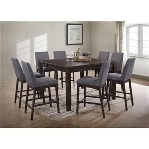 Elements International Piper 5 Piece Table and Chair Set