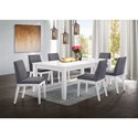 Elements International Piper White Table and Chair Set - Item Number: DPP700DT+DPP700SC
